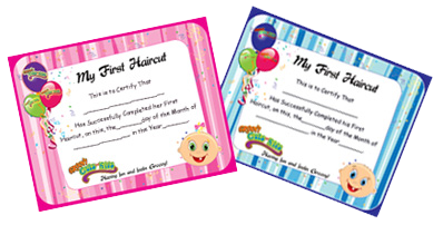 Groovy Cuts for Kids First Haircut Boy and Girl's Certificates